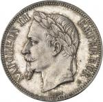 FRANCE Second Empire / Napoléon III (1852-1870). 5 francs tête laurée, petit BB 1869, BB, Strasbourg