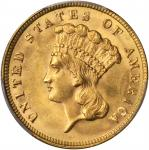 1887 Three-Dollar Gold Piece. MS-64 (PCGS).