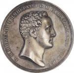 RUSSIA. Coronation of Nicolas I Silver Medal, 1826. NGC MS-62.