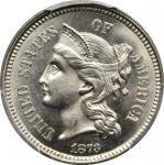 1873 Nickel Three-Cent Piece. Close 3. MS-66+ (PCGS). CAC.