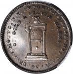 1789 Mott Token. Breen-1020, Rulau NY-610. Thick Planchet. Plain Edge. AU-58 (PCGS).