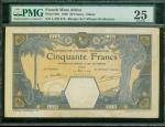 1929年法属西非伍拾法郎,PMG25