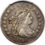 1797 Draped Bust Dime. JR-2. Rarity-4. 13 Stars. VF-35 (PCGS).