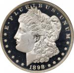 1898 Morgan Silver Dollar. Proof-64 Deep Cameo (PCGS). CAC.