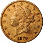 1879-CC Liberty Head Double Eagle. About Uncirculated, Graffiti (Uncertified).
