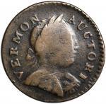 1788 Vermont Copper. RR-17, Bressett 14-S, W-2125. Rarity-4. Bust Right. VF-20.