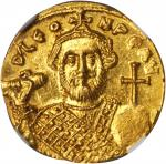 LEONTIUS, 695-698. AV Solidus (4.44 gms), Constantinople Mint, 9th Officinae.