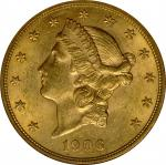 1906 Liberty Head Double Eagle. MS-61 (NGC).