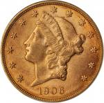 1906-D Liberty Head Double Eagle. AU-58 (NGC).