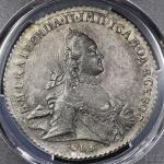 "RUSSIA Empire 帝政ロシア Rouble 1762 PCGS-AU Details""Cleaned"" 洗浄 EF+"
