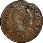 1788 Vermont Copper. RR-16, Bressett 15-S, W-2120. Rarity-1. Bust Right. AU-50 (PCGS).
