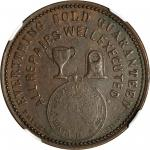 NEW ZEALAND. Christchurch. W. Petersen. Penny Token, ND (ca. 1857). NGC MS-61 BN.