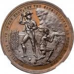 1881 Battle of Groton Heights Centennial. Bronze. 40 mm. HK-125b. Rarity-6. MS-67 (NGC).