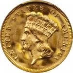 1878 Three-Dollar Gold Piece. MS-66 (PCGS).