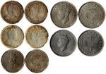 香港1毫5枚一组,包括1902,03,35,37及39-KN, 分别评PCGS MS64+, AU55, MS65, MS65及MS65, 高评分的一组钱币