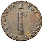 Italian coins;NAPOLI Repubblica napoletana (1799) 4 Tornesi A. VII - Magliocca 376 CU (g 12.61) Bell