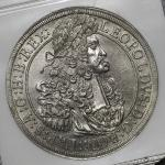 "HOUSE OF HABSBURG Leopold I レオポルト1世(1657~1705) Taler 1691 NGC-AU Details""Surface Hairlines"" 洗浄 EF+"