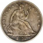 1876-S Liberty Seated Half Dollar. Type II Reverse. WB-42. Rarity-6. Very Small S, Repunched Mintmar