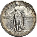 1916 Standing Liberty Quarter. MS-62 FH (NGC).