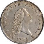1795/1795 Flowing Hair Half Dollar. O-112, T-20. Rarity-4. Recut Date, Two Leaves. AU-55 (PCGS).