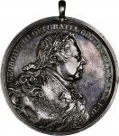 1814 George III Indian Peace Medal. Medium Size. Adams-13.1. (Obverse 1, Reverse A). Silver. About U