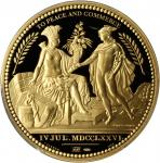 (2013) Paris Mint copy of the United States Diplomatic Medal. Gold. 1 ounce. .916 Fine. Proof-70DCAM