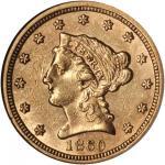 1860 Liberty Quarter Eagle. Breen-6250. Type I Reverse. AU-55 (NGC).