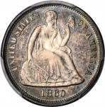 1860 Liberty Seated Dime. Proof-67 (PCGS).