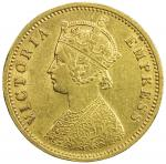 BRITISH INDIA: Victoria, empress, 1876-1901, AV mohur, 1889(c), KM-496, S&W-6.16, light edge filings