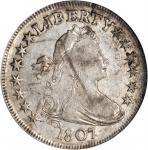 1807 Draped Bust Half Dollar. O-110a, T-3. Rarity-2. Genuine (NCS).
