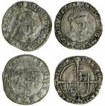 Edward VI (1547-53), coinage in the name of Henry VIII, Groats (2), both Canterbury, 2.56g, m.m. non