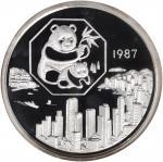 1987年5盎司银章,熊猫系列。NGC PROOF-68 ULTRA CAMEO.