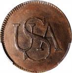 Undated (1860s) Bar Copper. Bolen Copy. Musante JAB-2, Kenney-1, W-14200. Copper MS-63 BN (PCGS).