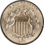 1873 Shield Nickel. Open 3. MS-66 (PCGS). CAC.