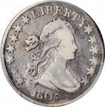1805/4 Draped Bust Half Dollar. O-101a, T-4. Rarity-7. Fine-12 (PCGS).