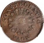 1785 Nova Constellatio Copper. Crosby 2-A, W-1885. Rarity-4+. CONSTELLATIO, Pointed Rays, Small, Clo