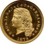 1879年飘逸长发4美元金币 NGC PF 66