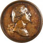 1776 (ca. 1789) Washington Before Boston Medal. Paris Mint Original. Bronzed Copper. 68 mm. Musante