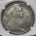 HOUSE OF HABSBURG Franz フランツ1世(1745~65) Taler 1749WI NGC-XF45 VF+
