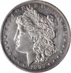1897 Morgan Silver Dollar. Proof. Unc Details--Cleaned (PCGS).