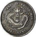 二十五年北洋造光绪元宝七钱二分银币