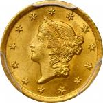 1853-O Gold Dollar. Winter-1. MS-66 (PCGS).