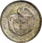 COLOMBIA. 1866 Peso. Bogotá mint. Restrepo 315.5. MS-61 (PCGS).
