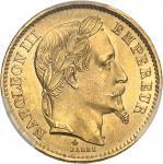 FRANCE Second Empire / Napoléon III (1852-1870). 20 francs tête laurée 1868, A, Paris.