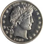 1902 Barber Half Dollar. Proof-65 (PCGS). CAC.