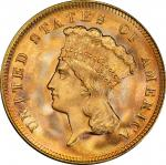 1878 Three-Dollar Gold Piece. MS-67 (PCGS). CAC.