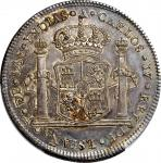MEXICO. Silver Proclamation 8 Reales, 1789. Charles IV. PCGS AU-58 Gold Shield.