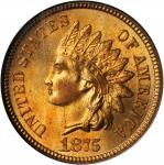 1875 Indian Cent. MS-65 RD (NGC).