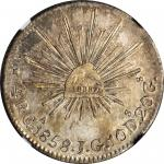 MEXICO. 4 Reales, 1858-Ga JG. Guadalajara Mint. NGC AU-50.