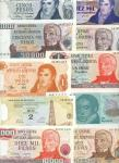 x Banco Central de la Republica Argentina, a large group of notes from 1960s onward, only a few exam